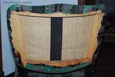 Silla francesa antes y después Organization, Blog, Home Decor, Chair Upholstery, Chairs, Tela, Chair Repair, Chair Backs, Chair Covers