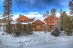 Breck - $750ish/night.  7bed, 6.5bath.  good kitchen and big bar in basement.  good outdoor area Sunbeam Estates Vacation Rental - VRBO 221461 - 7 BR Historic District House in CO, Trot Ski-House: 7 BR / 6.5 BA House in Breckenridge, Sleeps 22