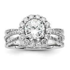 14k White Gold Diamond Semi-mount Ring available at Jenkins Jewelers in Midland and Gladwin, MI