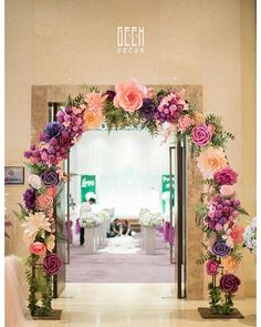 floral arch backdrop #weddingplanner #weddingstyle #weddingdecor…