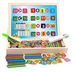 Gobus Adjustable Maths Learning Box Double Sided Black White Writing Drawing Board Sketchpad with 1 to 100 Numbers Math Counting Sticks Educational Toy Baby Toys, Kids Toys, Children's Toys, Puzzles, Magnetic Building Blocks, Magnetic Drawing Board, Buy Boxes, Wooden Alphabet, Puzzle Board
