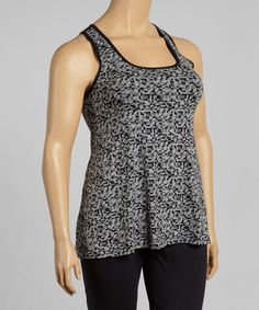 Look at this Black Geometric Sophia Tank - Plus on #zulily today!