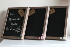 Chalkboard frames... for shopping lists, to do lists, messages, reminders... you name it!  https://www.etsy.com/listing/123325922/chalkboard-frames