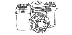»Camera Lines« Illustrationsset , via T26