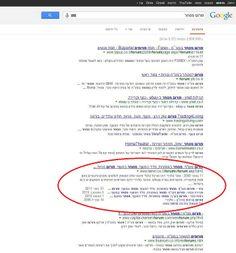 sitelinks קישורים נוספים בתוצאות של גוגל