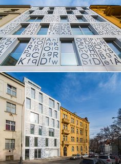 Façade of the Bieblova residence in Prague, built using HI-MACS® Solid Surface. Design: P6PA+Architects.