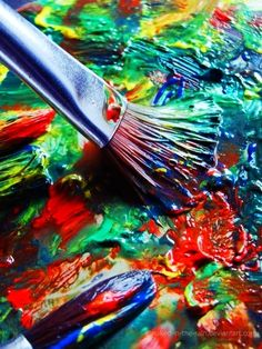 Brush of Color Paint Brush Art, Paint Photography, Artist Aesthetic, Guache, My Art Studio, Creative Portraits, Fine Art Photo, Love Painting, Color Of Life