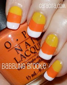 So cute.....Candy Corn Nails - How To