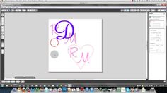 Creating monograms with Silhouette Studio