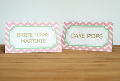 Mint To Be Glam Tent Cards