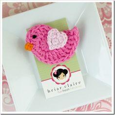 super cute crocheted bird