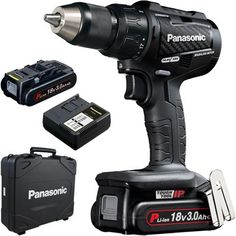 *CLICK TO ENLARGE* Panasonic EY79A2 18V brushless combi drill with 2x 3Ah batteries