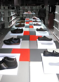 Retail Design   Footware   Camper display by Nendo