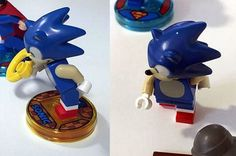 Here you can see Sonic, he wear a ring and he will appear maybe in a fun pack Lego Dimensions. Picture from Hoth Bricks