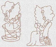 Sunbonnet Sue Sewing Redwork Machine Embroidery Designs