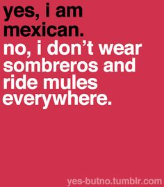 I am not Mexican - but this clearly needs to be on this board . For more in this series - go to http://yes-butno.tumblr.com/tagged/mexican