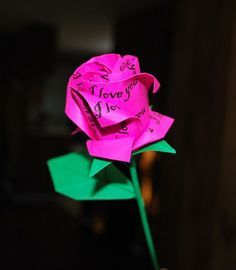 origami valentine rose easy