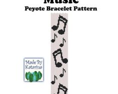 Peyote Pattern Geometric INSTANT DOWNLOAD PDF por MadeByKatarina