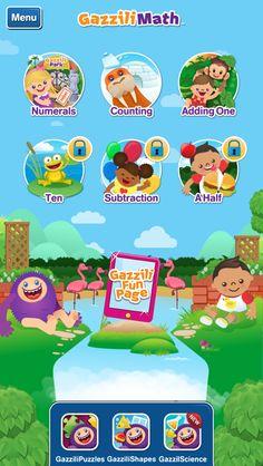 A fun app that helps teach preaschoolers math.