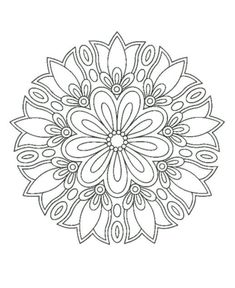 Circular pattern in the form of a mandala. Kreismuster in F Mandala Drawing, Mandala Painting, Circular Pattern, Mandala Pattern, Mandala Coloring Pages, Coloring Book Pages, Henna Tatoo, Free Adult Coloring, Quilting Designs