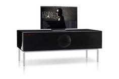 Televisiotaso uudelleen ajateltuna, sisältää korkean luokan äänentoiston minimalistisella designilla. Geneva Model XXL (linkki englanniksi.