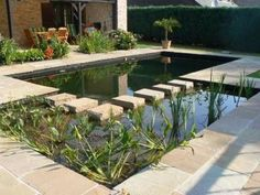 Swimming Pool Pond, Natural Swimming Ponds, Natural Pond, Swimming Pool Designs, Garden Pond Design, Modern Pools, Building A Pool, Cool Pools, Dream Garden