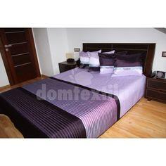 Svetlo fialové prehozy na postele s tmavo filovými pruhmi Windows, Bed, Furniture, Home Decor, Decoration Home, Stream Bed, Room Decor, Home Furnishings, Beds