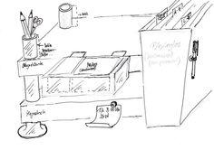 Mit diesen verschiedenen Schreibtischsystemen kann man endlich sein Chaos auf dem Schreibtisch sotieren.  Eine kluge und schicke Lösung #manugoo # SchreibtischablagefürZubehör
