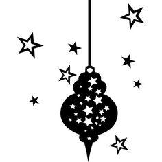 Raamstickers Kerstbal met Sterren Christmas Stencils, Christmas Diy, Merry Christmas, Holiday, Tea Light Lanterns, Tea Lights, Silhouette Cameo Christmas, December Daily, Black N White Images