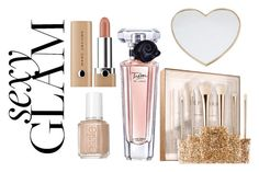 """""""Sexy glam"""" by subvilli ❤ liked on Polyvore featuring beauty, Sephora Collection, Essie, Lancôme, Gucci and goglam"""