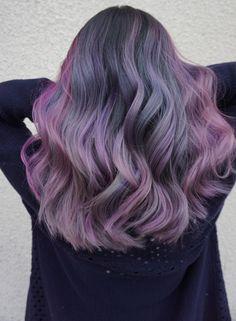32 lovely purple hair color ideas trending in 2019 32 Lavender Hair, Hair Color Purple, Unicorn Hair, Dye My Hair, Hair Inspiration, Hair Inspo, Mermaid Hair, Crazy Hair, Rainbow Hair