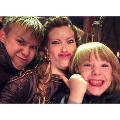 Teaching my oldest and youngest how to take the perfect selfie.  @historyvikings @luke.shanahan1 #Ubbe #Ivar…