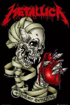 metallica Poster Art | Metallica posters - Metallica Heart Explosive poster LP1376 - Panic ...