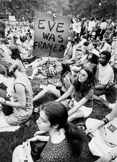 Women's liberation demonstration in New York, New York, 1970