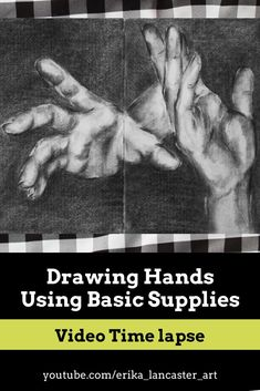 How I draw hands using basic and affordable drawing supplies. My entire process starting from preliminary outline sketch to development of highlights, midtones and darks. Drawing Process, Drawing Tips, Drawing Ideas, Learn To Draw, How To Draw Hands, Hands Tutorial, Watercolor Beginner, Art Tutorials, Drawing Tutorials