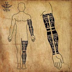 Viking Tattoo Symbol, Norse Tattoo, Viking Tattoos, Celtic Tattoos, Tribal Tattoos, Warrior Tattoos, 3d Tattoos, Geometric Tattoos, Arte Viking