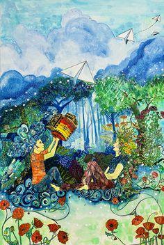 Février 2020 - 90X60cm - aquarelle sur toile Creations, Painting, Art, Watercolor Painting, Canvas, Paint, Painting Art, Paintings, Kunst