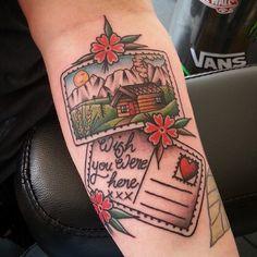cabin tattoo   Tumblr
