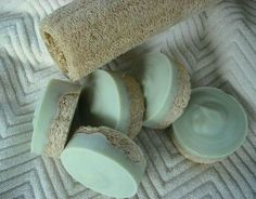 Peppermint / Tea Tree Loofah Foot Soap / Scrub Soap / Cold Process Soap / Goats Milk Soap / Includes Cotton foot stamped drawstring bag - Treat your feet to a meritorious spa ritual. Give them a little awakening and thank you, they are a - Diy Savon, Natural Loofah, Natural Soaps, Natural Skin, Peppermint Tea, Homemade Soap Recipes, Homemade Soap Bars, Soap Making Recipes, Goat Milk Soap