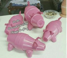 Cute and easy flower pot pig's