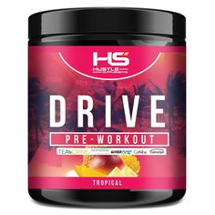 Hustle Supplements Drive Pre Workout - Tropical Beta Alanine, Pre Workout Supplement, Bodybuilding Recipes, Good Energy, All In One, Fun Workouts, Hustle, Health Fitness, Tropical