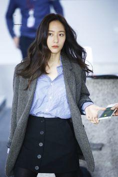 f(x) - Krystal Kpop Fashion, Work Fashion, Daily Fashion, Womens Fashion, Airport Fashion, Fashion Check, Fashion 2016, Fashion Outfits, Krystal Fx