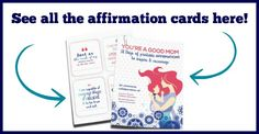 Printable positive affirmation cards for moms. These are beautiful and make the perfect gift for moms.
