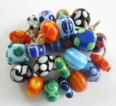 Handmade SRA Lampwork Beads Fun and Funky by bethsingleton on Etsy,  Lampwork beads by Beth Singleton