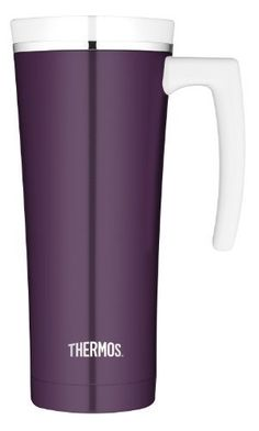 Thermos 16-Ounce Stainless Steel Travel Mug, Plum by Nissan. $23.63. 16-ounce vacuum insulated tumbler; dishwasher safe. Leak-proof lid with one hand push button operation. Thermax double wall vacuum insulation for maximum temperature retention. keeps hot for 5 hours, keeps cold for 9 hours. Unbreakable stainless steel interiors and exteriors. Built in tea hook easily holds tea bags or most loose leaf infusers. The Sipp Thermos line combines sleek style with unique functional f...