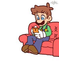 Luigi & Cat Mario.