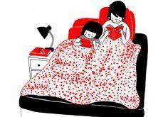 Ilustradora mostra o lado mais doce da rotina de um casal