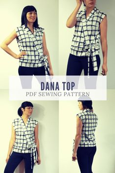 The Dana Top PDF sewing pattern and step by step sewing tutorial 788cb0350cb
