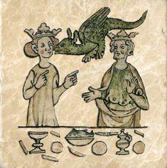 Wedding feast dragon, early Roman codex