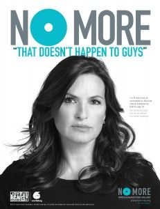 "Mariska Hargitay: #NOMORE ""that doesn't happen to guys"" because it does. Men & boys are victims too. Join the movement to end domestic violence & sexual assault for people of all genders, races and ethnicities, and age groups."